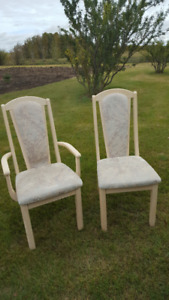 Six Solid Oak Dining Chairs