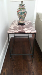 Pair of Marble Top End Tables + Free Delivery