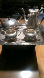 Birks recency plate 4 piece tea set