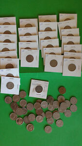 68 Canadian Nickels - Mainly 1920's and 30's