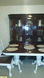 Dining Table with Kitchen Cabinet