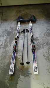 Skis, poles & boots