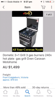 CARAVAN DOMETIC OVEN / STOVE TOP COOKER NEW IN BOX Charlestown Lake Macquarie Area Preview