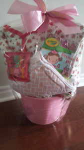 Baby girl basket gift
