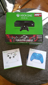 Xbox one 7 jeux 2 manettes kinect