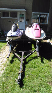 Pink Seadoo for parts and double trailer for sale - 1200