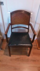 Antique chair with arms