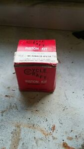 Piston and ring set honda