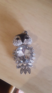 Butler and Wilson Crystal Owl Pendant