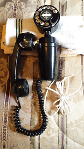 RARE SPACE SAVER ROTARY WALL MOUNT TELEPHONE