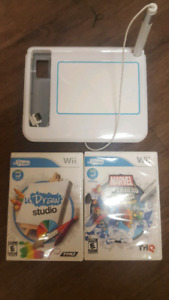 Nintendo Wii UDraw Game Tablet with 2 Games