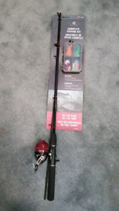 Brand new fishing rod with starter kit