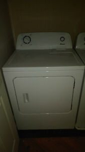 Amana washer and dryer pair.