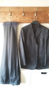 Moores Gray Pinstripe - Suit Jacket and Matching Pants