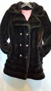 Vintage Mink Hip Length Coat - Ladies Medium