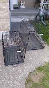 Dog crate 36x24 and 24x12 20 dollars each