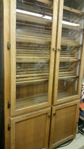 SALE Glass Door Hutch for Display