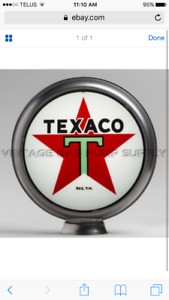 Wanted: gas pump globe and base plate