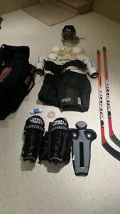 Équipement complet de hockey