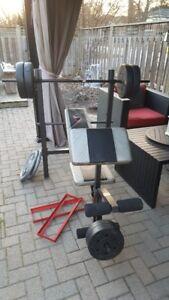 weight set plus bench