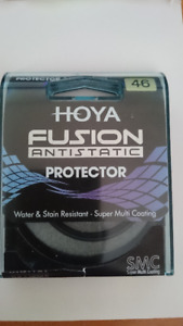 Hoya Fusion Antistatic Protector 46mm filter. Made in Japan