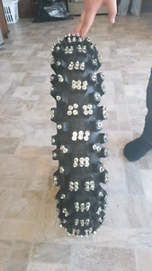 studed dirtbike tire