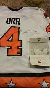 BOBBY ORR 1975 ALL STAR SIGNED JERSEY REPLICA with COA Hologram
