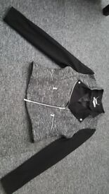 Karen Millen Biker style fabric jacket UK 14