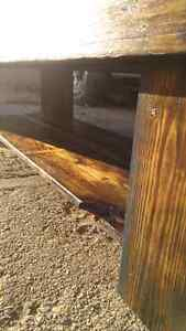 Barn board coffie table 2foot by 5foot by 16 inch Cambridge Kitchener Area image 7