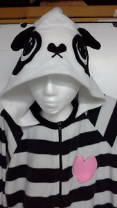adult hooded panda bear onesie pajama / costume