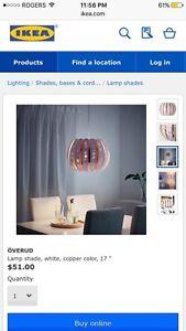 BRAND NEW Ikea copper and white Overud light Cambridge Kitchener Area image 3