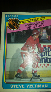Rookie hockey card