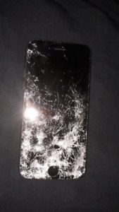 Shattered iPhone 7