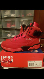 Retro Ewing 33 hi red suede size 12