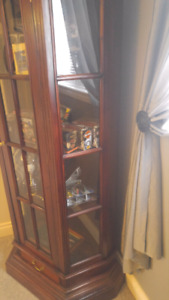 """Cherry """"all wood"""" china cabinet"""