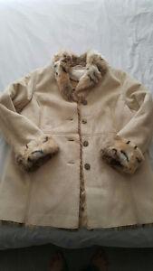 Faux Fur Suede Women's Jacket - NEW
