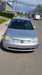 2002 CIVIC 5 SPEED MANUAL- HIGHWAY KMS