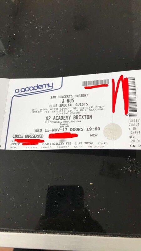 jhus concert o2 academy brixton 15/11/17 london