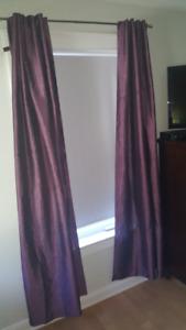 Purple (Plum) tab Curtains