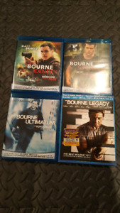 Bourne Movies 1 to 4 in Blu-ray
