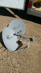 Bell satellite dish and bulbs
