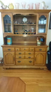 Solid Wood Hutch, China Cabinet, Buffet -great display areas