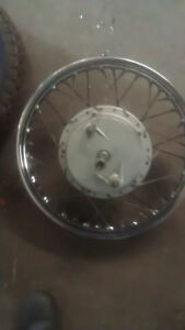 1960-70'S BSA A65 18 Inch Rear Wheel Assembly (USED).