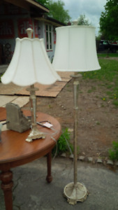 table and floor lamp combo