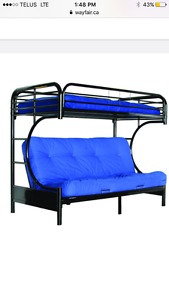 Bunk beds twin over double/futon perfect condition!!