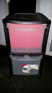 Two drawer platic filing cabinet