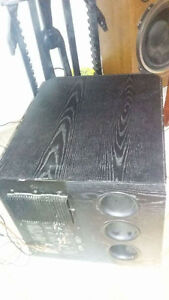 2 fisher speakers 1 sub