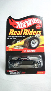 HOT WHEELS RLC REAL RIDERS 65 MUSTANG FORD DIE CAST MINT