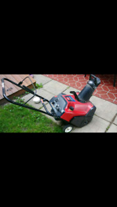 Toro snowblower with electric start