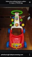 Fisher price walker and wagon